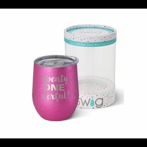"Swig Life -Pink- ""Twenty One Wonderful"" Glass"